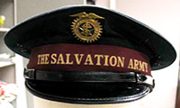 Man's Salvation Army uniform hat. Image from the North Carolina Museum of History.