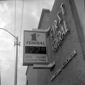 The First Federal Savings and Loan in Greenville, 1962. Image from the Digital Collections at East Carolina University.