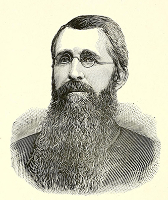 An engraving of John C. Scarborough published in 1892. Image from the Internet Archive.