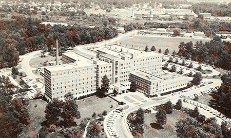 The Moses H. Cone Memorial Hospital, circa 1965. Image from the North Carolina Digital Collections.
