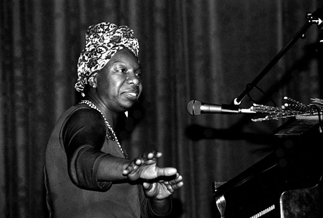 Nina Simone in concert at Morlaix (Brittany, France) in May 1982.