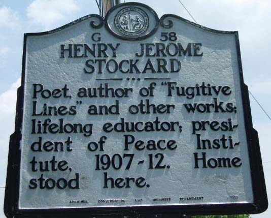 Henry Jerome Stockard's marker is located in Burlington, Alamance County. Photo is courtsey from North Carolina Highway Historical Marker Program.