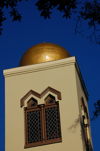 One of the Temple of Israel's golden onion domes, Wilmington, N.C. February 19, 2011. Image from Flickr user Donald Lee Pardue.