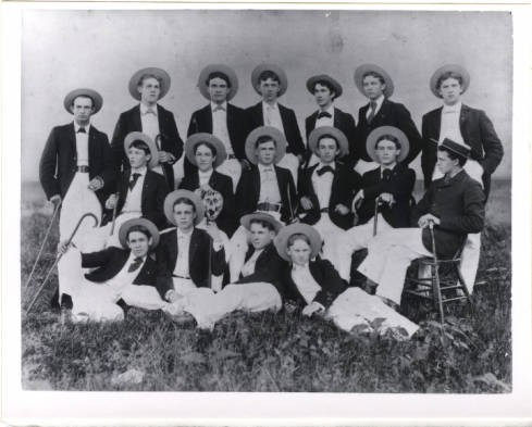 Theta Nu Epsilon Fraternity, c. 1892. Image courtesy of The Carolina Story.
