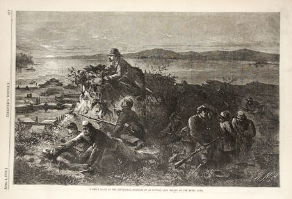 Union scounts in the South on Night Patrol. Harper's Weekly, April 4, 1863. Drawing by Thomas Nast. Available from Son of the South.