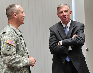 Thomas W. Ross, UNC system president, 2011-2016. Image from Flickr user North Carolina National Guard.