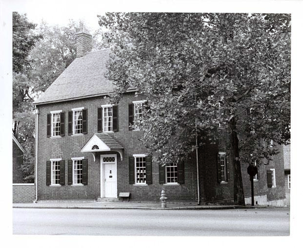 Photograph of the John Vogler House in Old Salem, NC.  Image taken 1958.  From the collections of the North Carolina Museum of History.