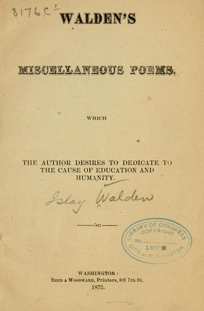Walden's miscellaneous poems