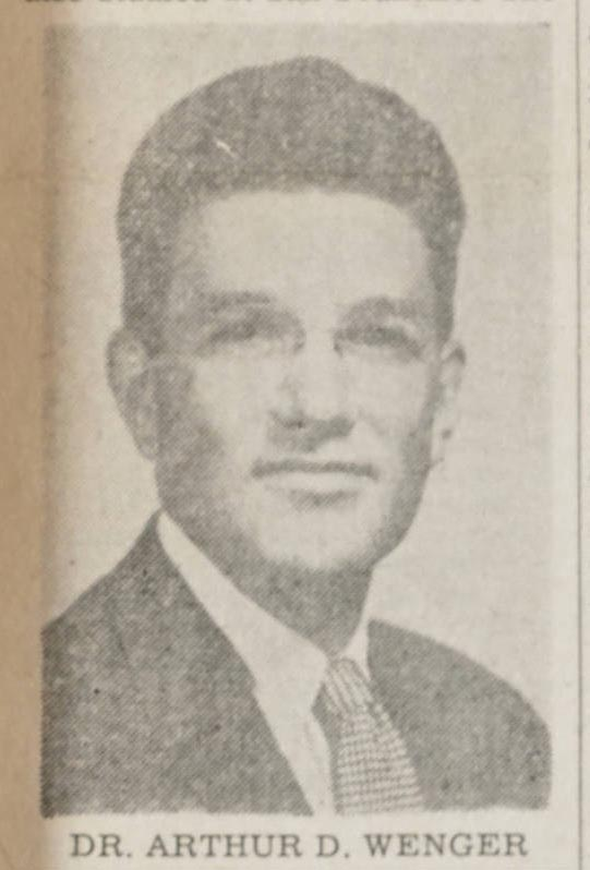 Image of Arthur Daniel Wenger, from Atlantic Christian College (Barton College) 1956, [p.1], published in 1956 by Atlantic Christian College Student Newspaper. Presented on Digital North Carolina.
