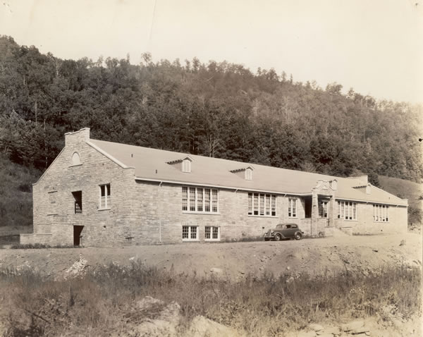 Alarka School, Swain County, N.C. Built as a project of the WPA. Image courtesy of Western Carolina University.