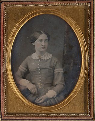 "Museum of Photographic Arts Collections. 1850. ""Portrait of a woman."""