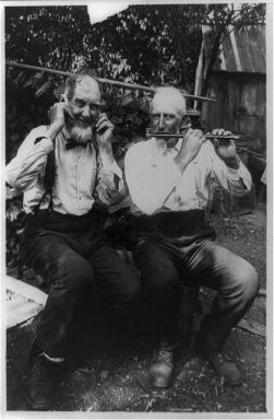 """Ears that hear not,"" c.1914. Image courtesy of the Library of Congress, call #: SSF - Musical instruments--Flutes <item> [P&P]."