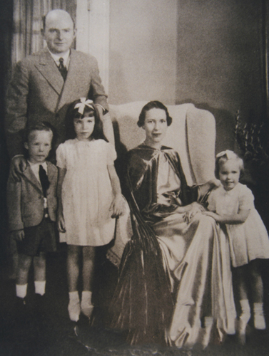 """Charles Henry Babcock family, 1937."" Charles Babcock is standing. Image courtesy of Digital Forsyth."