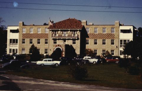 """Photograph of the front facade of the Babies Hospital, Wrightsville Beach."" Image courtesy of the Historical Society of the Lower Cape Fear, accession #: 83.476,1."
