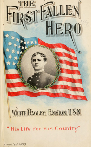 "From ""The first fallen hero, a biographical sketch of Worth Bagley, ensign, U.S.N."""