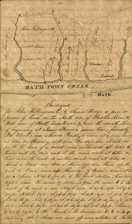 Bath Creek Survey, 1840