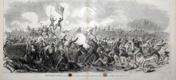 "Caption Reads: ""The Burnside Expedition- The Storming of Fort Thompson at New Bern, North Carolina, March 14, 1862."""