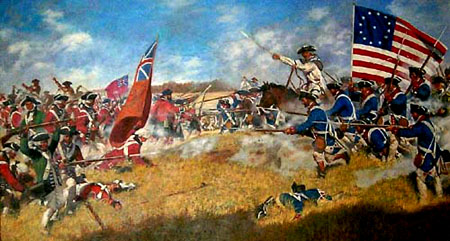 """Battle of King's Mountain."" Image courtesy of North Carolina Office of Archives & History."