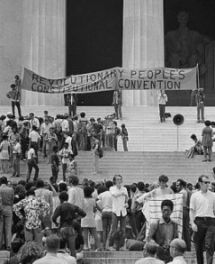 Black Panther Convention, Lincoln Memorial, Washington D.C., June 19, 1970.