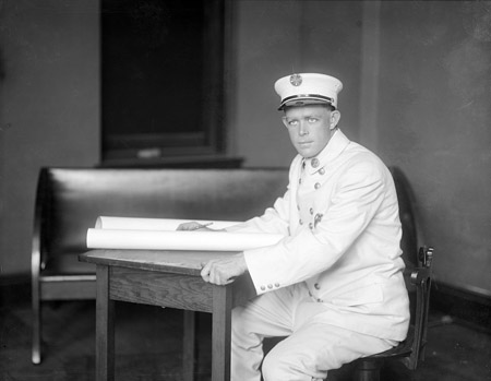 Sherwood Brockwell (Fire Chief) about 1911. From the North Carolina State Archives, call #: N_53_16_3960.