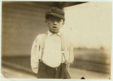 Herman Parker, 6 years old, worked at Cannon Mills, Kannapolis, NC, 1912. Image courtesy of Library of Congress.