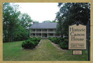 Historic Carson House, 1793. Image courtesy of Carson House Society.