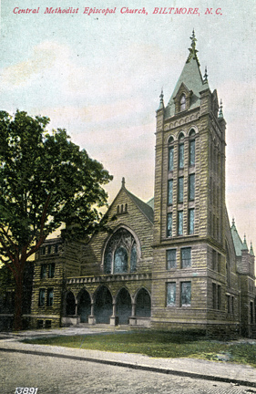 Central Methodist Episcopal Church, Biltmore, North Carolina. Image courtesy of North Carolina State Archives.