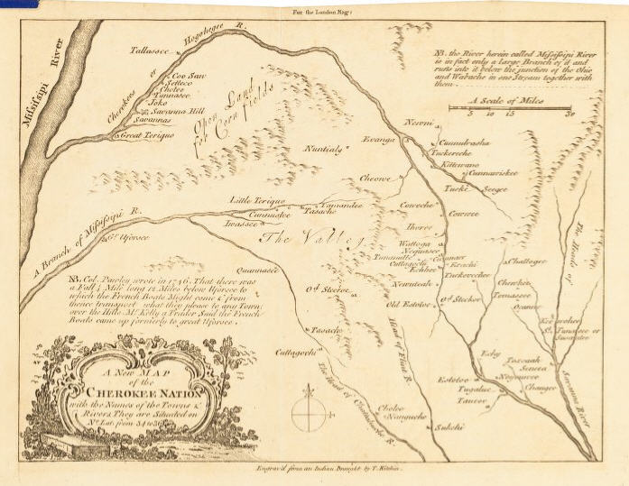 Map of the Cherokee nation, 1760