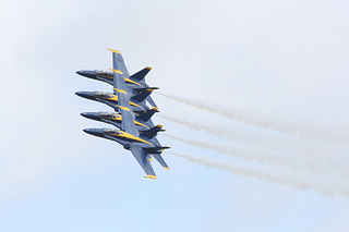 Blue Angels at the 2012 Cherry Point Air Show, May 6, at Marine Corps Air Station Cherry Point, N.C. Image courtesy of Flickr user CherryPoint.