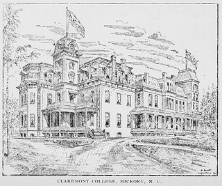 Claremont College, Hickory, N.C. From the 1896-1898 Biennial Report of the Superintendent of Public Instruction of North Carolina.