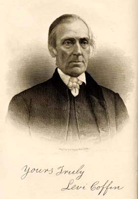 Levi Coffin. Courtesy of Documenting the American South, UNC Libraries.