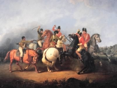 Battle of Cowpen, painted by William Ranney in 1845. Image courtesy of the National Park Service.