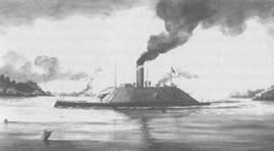 """Ironclad CSS Raleigh."" Courtesy of Cape Fear Historical Institute."