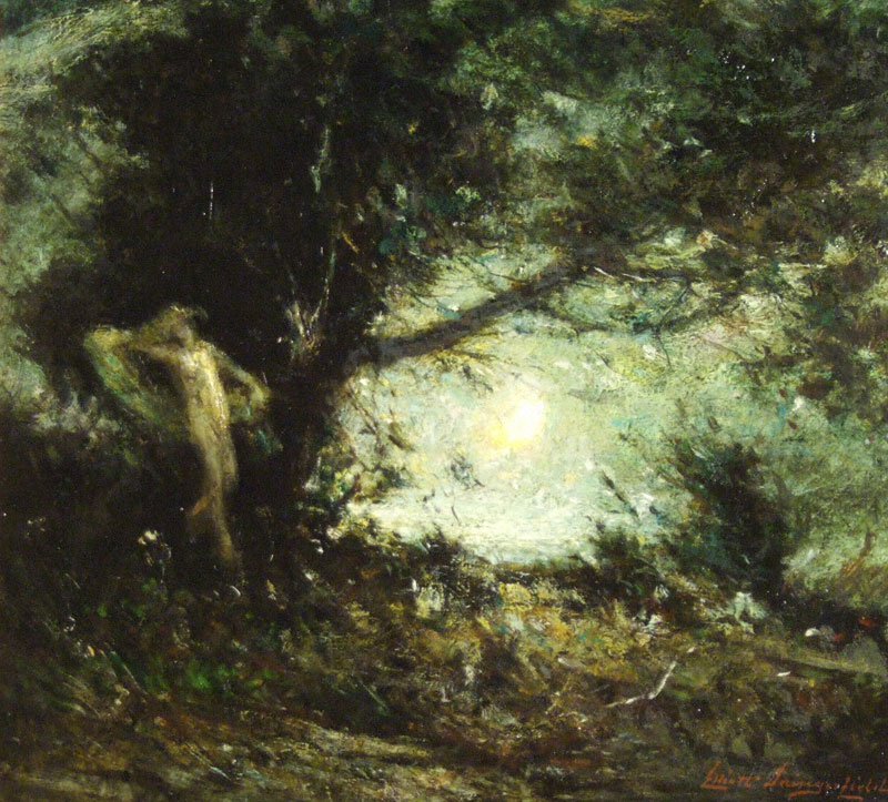 Wood Sprite, 1920, by Elliott Daingerfield. Image courtesy of the Cameron Art Museum.