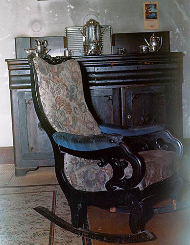 Chair made by Tom Day in house of Romulus Sanders.