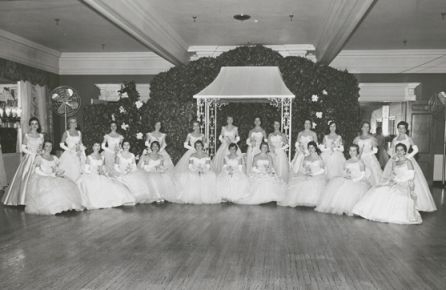 First Debutante Ball in Winston-Salem, 1956.