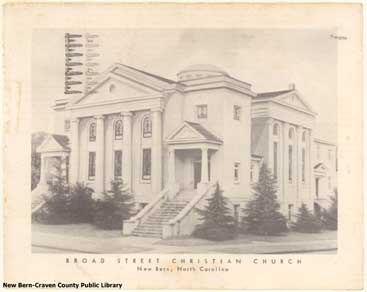 """Broad Street Christian Church, c 1926."" Created by Taylor, John R. Image courtesy of the Craven County Digital History Exhibit."