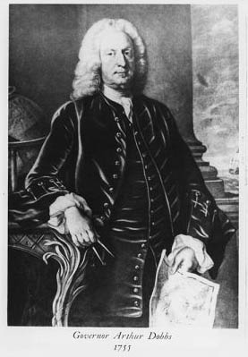 Governor Arthur Dobbs, 1755. Image courtesy of East Carolina University's Digital Collections.