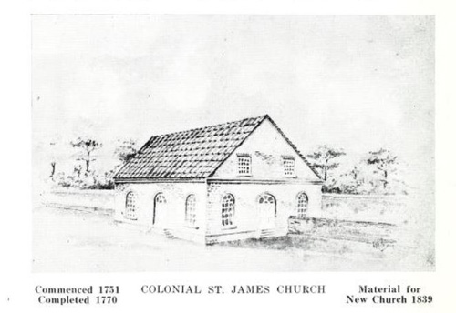 Colonial St. James Church, NC. Image courtesy of the Internet Archive.