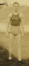Donn Kinzle, Track and Field, Duke University. Image courtesy of Duke University Archives.