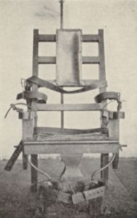 1929: Electric chair, Central Prison, Raleigh, N.C. Image available from UNC Libraries.