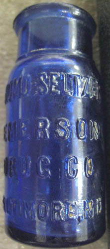 Bromo-Seltzer bottle. Image courtesy of the NC Museum of History.