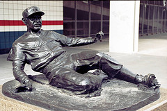 "Enos ""Country"" Slaughter statue at Busch Stadium, St. Louis, Mo."