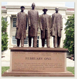 February One monument at NC A&T State University