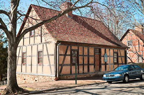 """First House (1766), 446 South Main Street, Old Salem, Winston Salem, North Carolina."" Available from: Flickr Commons."