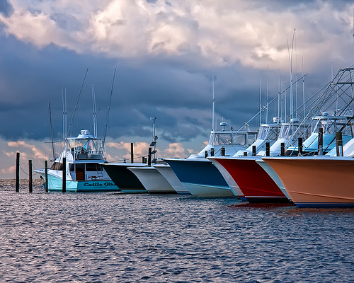 """Fishing Charter Boats at Oregon Inlet."" Image courtesy of Becky Gregory"