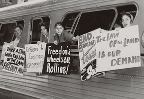 Freedom Rides, 1961: Traveling to promote civil rights. Image courtesy of CORE.