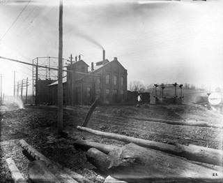 Asheville, NC, gas plant, no date (probably c.1910's - 1920's). From CP&L Collection, PhC.68, North Carolina State Archives, call #:  PhC68_1_12.