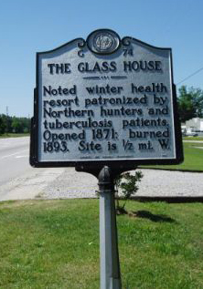 The Glass House NC Historical Marker G-74.
