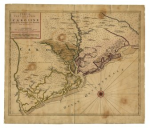This map depicts the Carolinas at the time of Henderson's administration.
